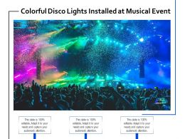 Colorful Disco Lights Installed At Musical Event