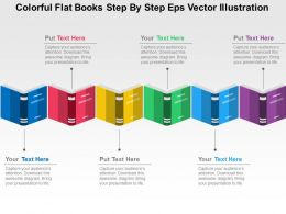 Colorful Flat Books Step By Step Eps Vector Illustration Flat Powerpoint Design