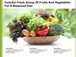 Colorful Fresh Group Of Fruits And Vegetables For A Balanced Diet