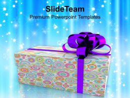 Colorful Gift Box Christmas Celebration PowerPoint Templates PPT Themes And Graphics 0213