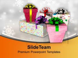Colorful Gift Boxes Festival Celebration Powerpoint Templates Ppt Themes And Graphics 0113