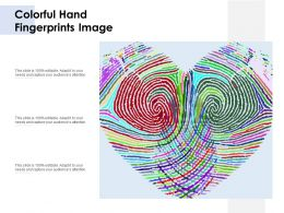 Colorful Hand Fingerprints Image