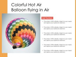 Colorful Hot Air Balloon Flying In Air