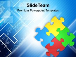 Colorful Jigsaw Puzzle Team Business PowerPoint Templates PPT Themes And Graphics 0313