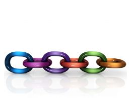 Colorful Link Chain For Unity Stock Photo