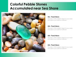 Colorful Pebble Stones Accumulated Near Sea Shore