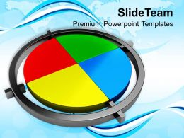 Colorful Pie Chart Business Strategy Powerpoint Templates Ppt Themes And Graphics