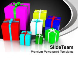 Colorful Presents Festival Holidays PowerPoint Templates PPT Themes And Graphics 0113