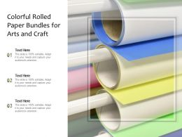 Colorful Rolled Paper Bundles For Arts And Craft