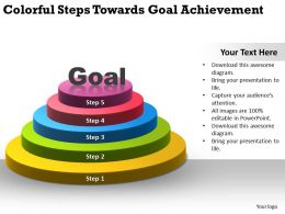 Colorful Steps Towards Goal Achievement Ppt Powerpoint Slides