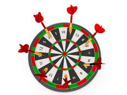 Colorful Target Board With Red Arrows Showing Success Concept Stock Photo