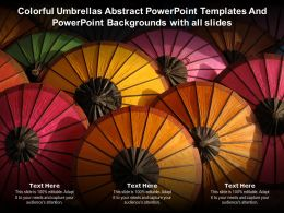 Colorful Umbrellas Abstract Powerpoint Templates Powerpoint Backgrounds With All Slides