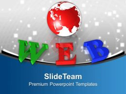 Colorful Web With Globe World Powerpoint Templates Ppt Themes And Graphics 0313