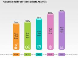 Coloumn Chart For Financial Data Analysis Flat Powerpoint Design