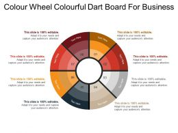 Colour Wheel Colourful Dart Board For Business