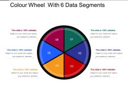 Colour Wheel With 6 Data Segments