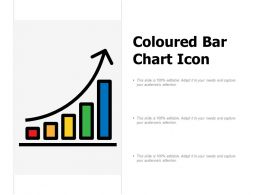 Coloured Bar Chart Icon