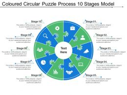 Coloured Circular Puzzle Process 10 Stages Model