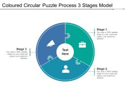 Coloured Circular Puzzle Process 3 Stages Model