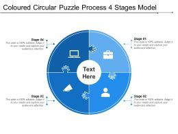 Coloured Circular Puzzle Process 4 Stages Model