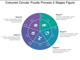 Coloured Circular Puzzle Process 5 Stages Figure