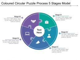 Coloured Circular Puzzle Process 5 Stages Model
