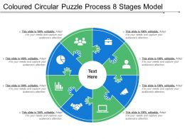 Coloured Circular Puzzle Process 8 Stages Model