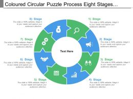 Coloured Circular Puzzle Process Eight Stages Pattern