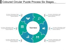 Coloured Circular Puzzle Process Six Stages Pattern