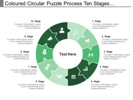 Coloured Circular Puzzle Process Ten Stages Pattern