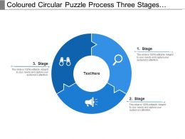 Coloured Circular Puzzle Process Three Stages Pattern