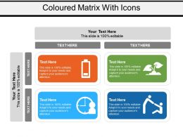 Coloured Matrix With Icons
