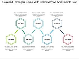 Coloured Pentagon Boxes With Linked Arrows And Sample Text