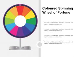 Coloured Spinning Wheel Of Fortune