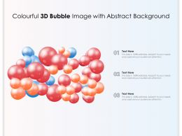 Colourful 3d Bubble Image With Abstract Background