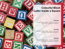 Colourful Block Letter Inside A Square