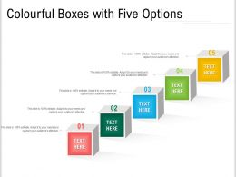 Colourful Boxes With Five Options