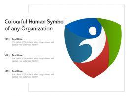 Colourful Human Symbol Of Any Organization