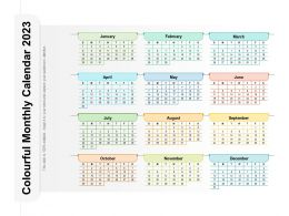 Colourful Monthly Calendar 2023
