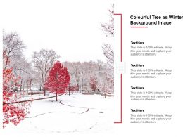 Colourful Tree As Winter Background Image