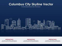 Columbus City Skyline Vector Powerpoint Presentation PPT Template