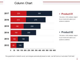Column Chart Powerpoint Graphics