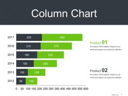 Column Chart Powerpoint Layout