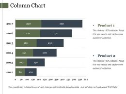 Column Chart Powerpoint Slide Clipart