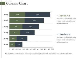 Column Chart Powerpoint Slide Clipart