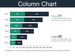 Column Chart Powerpoint Slide Show Template 2