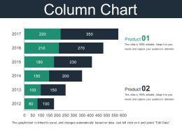 Column Chart Powerpoint Slide Show Template 2