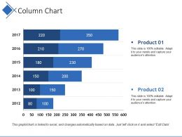 Column Chart Ppt Example File