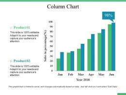 Column Chart Ppt File Summary