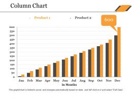 Column Chart Ppt Ideas